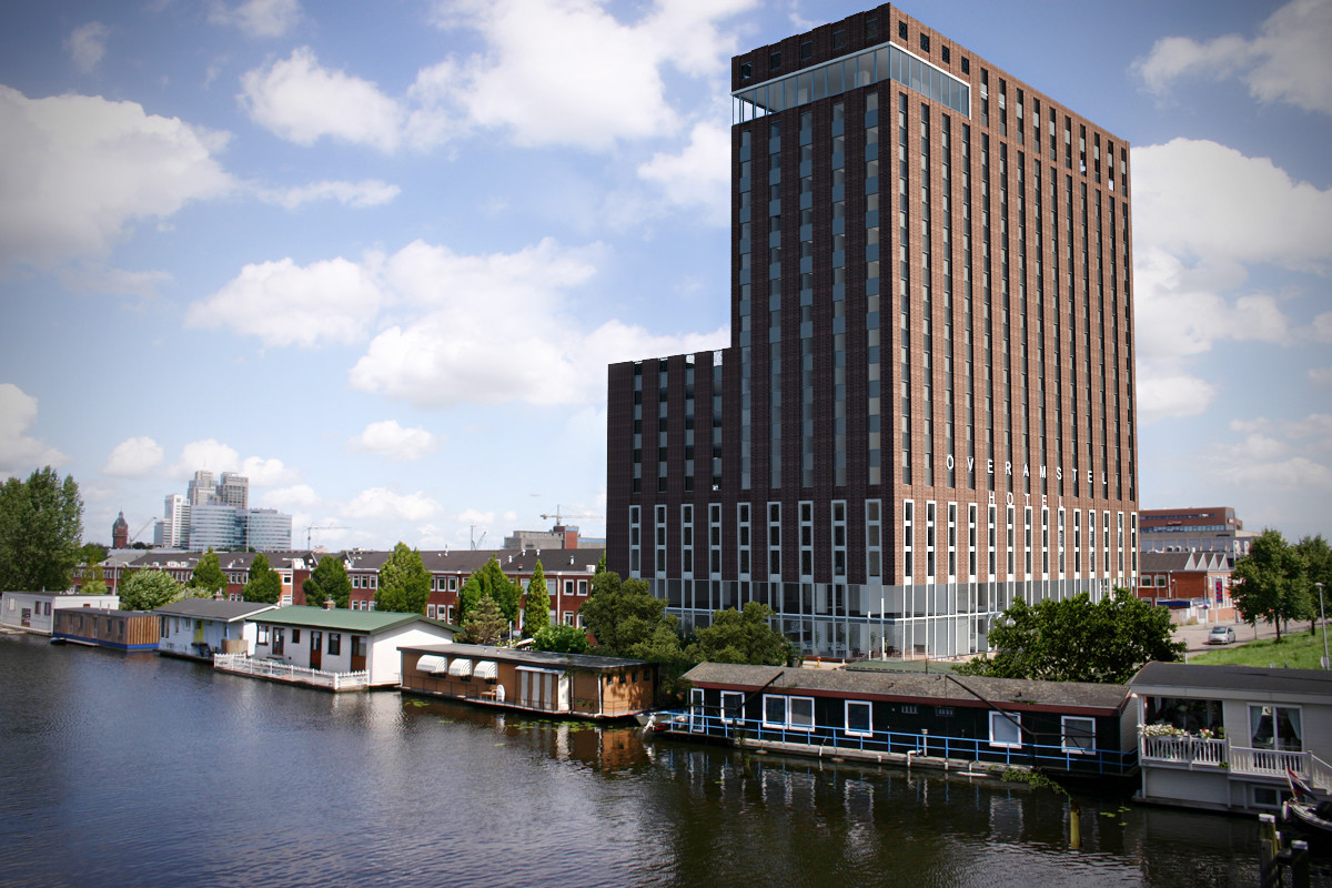 Nieuwbouw overamstel hotel amsterdam wijnne betongroep for Amsterdam hotel