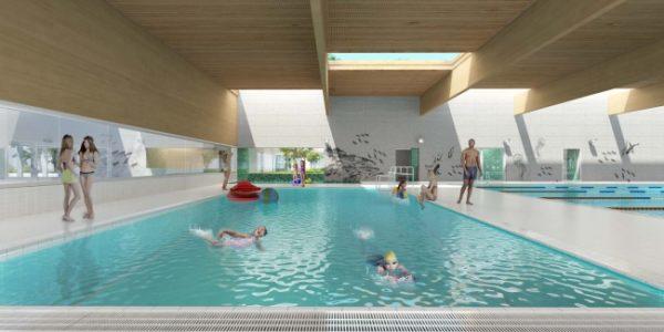 Nieuwbouw zwembad mortsel be wijnne betongroep - Omgeving zwembad ontwerp ...